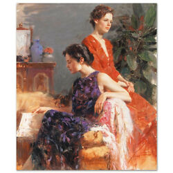 Pino Lazy Afternoon S/n W/coa Embellished Canvas 3200srp-offer