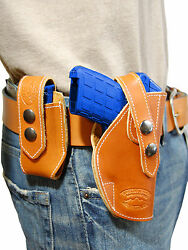 NEW Barsony Tan Leather Holster + Mag Pouch KelTec Taurus Small 380 UltraComp