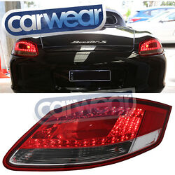 PORSCHE 987 CAYMAN BOXSTER 05-09 CLEAR RED LED TAIL LIGHTS