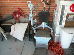 Early 1900's Antique Dentist Chair And Dr. Pepper Pop Machine