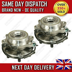 2X NEW FRONT WHEEL BEARING FIT FOR A NISSAN NAVARA 2.5 D40 DCi 4X4 2005