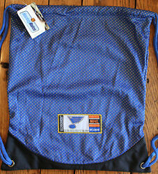 St. Louis Blues Backpack Tote Gym Sack Authentic Nhl Gear Technomesh Blue