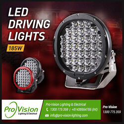 Led Driving Lights 4x 185w Heavy Duty Cree 12/24v Brightest On The Market Today
