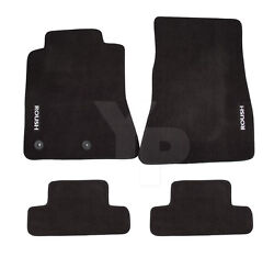 2015-2021 Ford Mustang Roush Embroidered Black Front And Rear Floor Mats - 4pc Set