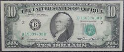The United States Of America -1985 10 Federal Reserve Note -full Reverse Offset