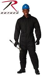 Black Military Cold Weather Heavily Insulated Coveralls / Jumpsuits Rothco 9015