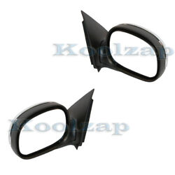 F-series Pickup Truck Manual Chrome Cap Folding Mirror Left Right Side Set Pair