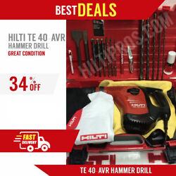 Hilti Te 40avr Hammer Drill, Great Condition, Free Bits, Lot Of Extra, Fast Ship