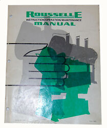 Rousselle Straight Side Punch Press, Instructions Operations And Parts Manual