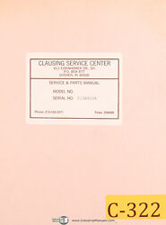 Clausing Colchester 13, Lathe 25303 To 40723, Operations And Parts Manual 1965