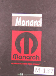 Monarch Series 61, Engine And Toolmakers Lathe, Operators Parts And Tracer Manual