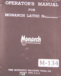 Monarch Monomatic 15 And 20, Lathe, Operations Parts With Bandc Airgagetracer Manual