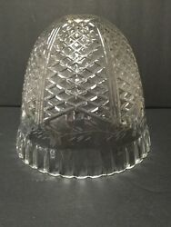 Vintage Etched Cut Pressed Glass Light Ceiling Fixture Lead Crystal Lamp Shade