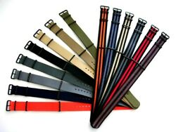 22mm Nato ® Smart Watch Strap Nylon Pvd Military Sport Stitched Bonded Iw Suisse