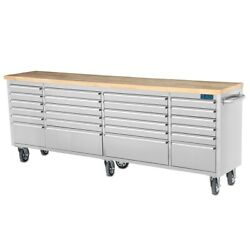 Sgs 96 Stainless Steel 24 Drawer Work Bench Tool Chest Cabinet