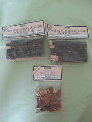 New Lot 3 Vintage Craft Artisanal Value Pack Wood Erasers, Mini Brooms And Baskets