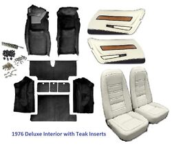 1976 Corvette Interior Package Seat Covers And Kit Door Panels And Carpet C3 New