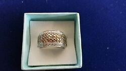 Levian 14k Gold White Gold - Chocolate And White Diamond Cocktail Ring 1.60 Tcw