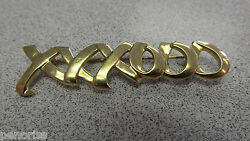 And Company 18k Gold X0x0x0 Pin / Brooch Hugs And Kisses 1983 Make Offer