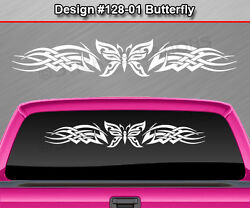 128-01 Butterfly Rear Window Decal Sticker Vinyl Graphic Celtic Knot Car Suv
