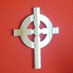 Gothic Cross Shaped Acrylic Mirrors - Various Sizes
