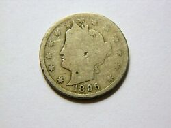 1896 G/ag Liberty V Nickel Semi Key Date Coin Priced Below Book Value