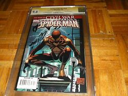 Amazing Spider man #530 CGC SS 9.6 IRON COSTUME CIVIL WAR J MICHAEL STRACZYNSKI