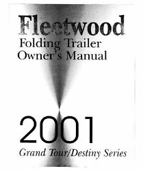 Coleman Popup Trailer Owners Manual-2001 Destiny Tacoma Timerlake
