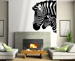Zebras Silhouettes Wall Decals