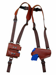 New Burgundy Leather Thumb Break Shoulder Holster W/mag Pouch Sig Walther 380 9