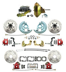1968-69 Camaro F- Body Performance Front And Rear Disc Brake Kits Red Caliper