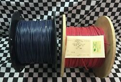 Lot Of 2, Wire 12 Awg, 1000ft Each, Mil-w-67, Color Red And Blue, M323-2, Cma-536