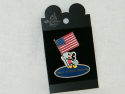 New Walt Disney World Mickey Mouse Usa American Flag 2002 Collector /trading Pin