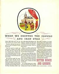 1930 Better Homes And Gardens Magazine Ad - Antique Vtg Print 14x11 Color