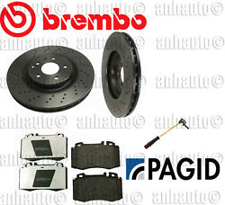 Mercedes-Benz W203 & SLK280 Set of 2 Front Rotors Pads Sensor Brake KIT Brembo