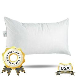 Comfydown Rectangle Pillow Insert Feather /down - All Sizes Made In Usa