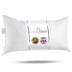 ComfyDown Rectangle Pillow Insert FEATHER DOWN ALL SIZES Made in USA