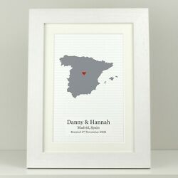 Personalised Special Place Map Engagement Gift / Wedding Anniversary Present