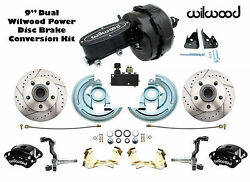1964-1972 Gm A F X Body Wilwood Disc Brake Kit 9 Dual Black Out Master And Valve