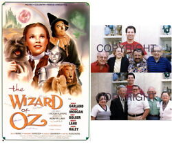Wizard Of Oz Movie Poster Signed By 9 Munchkins - Garland Last 2 Posters Forever