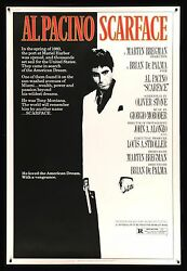 Scarface ✯ 40x60 Cinemasterpieces Original Movie Poster 1983 Mobster Gangster