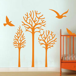 I200 Wall Decal Sticker Tree Nature Newborn Baby Birds Lullaby Air Branch Leaf