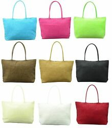 Straw Weave Shoulder Tote Shopping Beach Bag Purse Handbag Fashion Women Summer $8.99