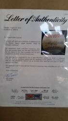 Mickey Mantle Signed Baseball With A Letter Of Authenticity From Psa/dna Sports