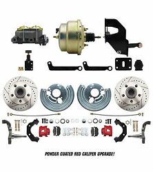 Mopar 1962-74 B And E Body Performance Pwr Disc Conversion Kit W/ Red Pc Calipers