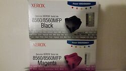 Oem Xerox Phaser 8560 Color Sticks- Two Boxes Black And Two Boxes Magenta