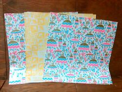 Lot 2 Vtg 60and039s-70and039s Bridal Shower Gift Wrap Designs 3 Sheets Uncut Must See Usa