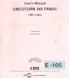 Emco Turn 345 Fanuc, Cnc Lathe User Operations And Programming Manual 1998