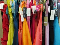 5 PIECE DRESS LOT *PROM PAGEANT BRIDAL MAID*RANDOM PICK*SIZES 0-14 NWT DESIGNERS $250.00