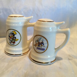 Collectible Vintage Salt And Pepper Shakers Beer Stien Shaped Seabees And Phoebee